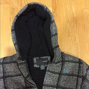 Hurley black grey thick hoody sz XS stylish warm